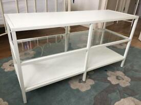 White IKEA TV unit