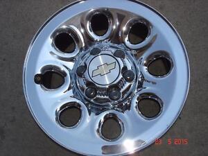 "2012 Chev 1500 Chrome steel OEM 17""x 6 bolt rims / no tires"