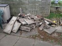 Rubble/Hard core - broken paving, bricks and ornaments - free to take away