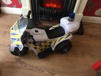 Chad Valley 6V electric Police Bike