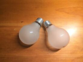 Two traditional incandescent light bulbs - 100W