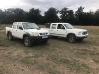 Ford ranger pick up and Nissan 4x4