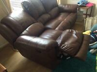 Reclining leather sofas. Need gone ASAP