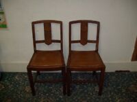 2 Wooden Chairs ID 43/10/17
