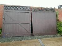 double large wooden gates