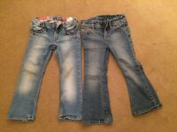 Girls jeans , 2 pairs , age 2-3