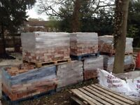 Re-claimed bricks for sale left over from a project. Approx 4000 reclaimed bricks available.