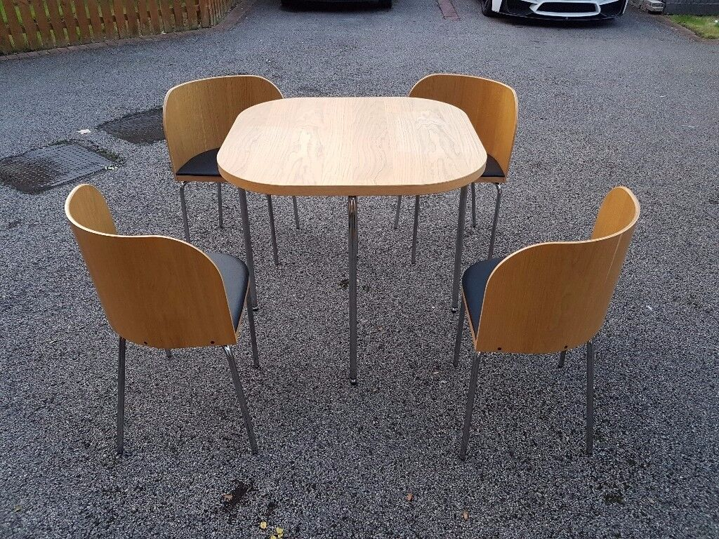 Ikea Space Saving Table & 4 Chairs FREE DELIVERY 057