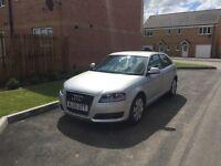 Audi A3 TDIe Sportback 1.9 3dr. Silver, good condition. Excellent fuel economy