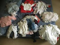 Bags of girls clothes 0-3 months