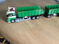 Lego Truck with Two Trailers