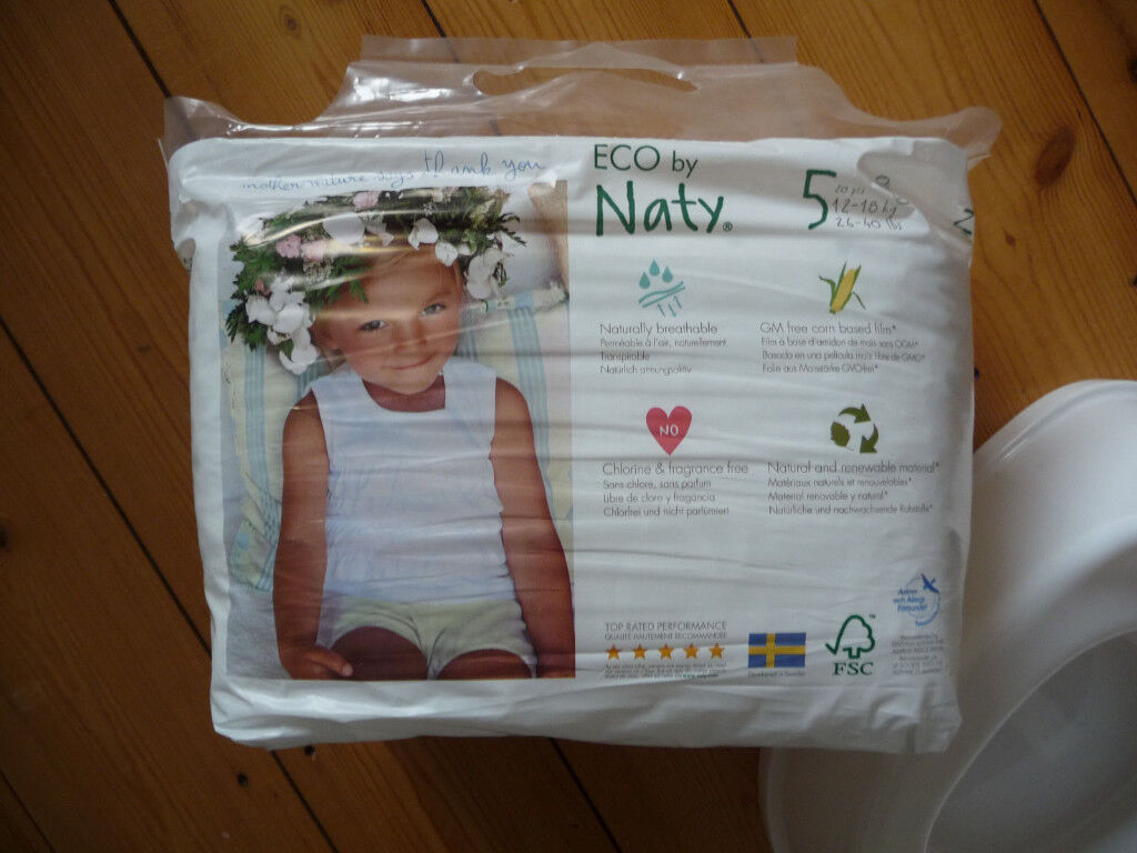 NEW packet Naty nappies, size 5 pull ups, 12-18kg, x20
