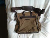 Man's shoulder bag.