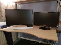 2 Samsung PC monitors for sale