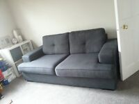 Sofa for sale settee / couch / suite dark grey 3 seater