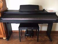 Daewoo EX-Z Plus 88 Key Digital Piano and piano stool (Rosewood, Black Satin)