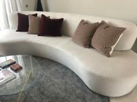 Modern curved sofa, 1 year old