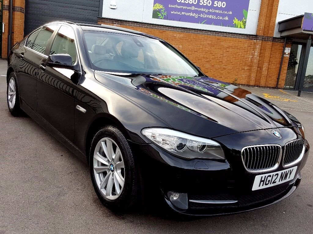 2012 62 Black Bmw 520d 2 0 Diesel Automatic Saloon Cream Leather Interior 50 000 Miles Full
