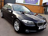 2012/62 BLACK BMW 520D 2.0 DIESEL AUTOMATIC SALOON CREAM LEATHER INTERIOR 50.000 MILES FULL HISTORY