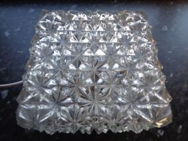 Vintage 1960's German Glass Ceiling or Wall Light