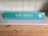 New 100 Books Scratch Off Bucket List Poster Size 420x594mm Fathers Day Birthday Sealed in Box
