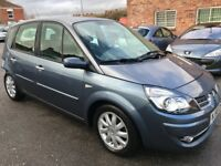 Breaking for parts Renault scenic automatic-05-09,5-Door grey, colour code tej47