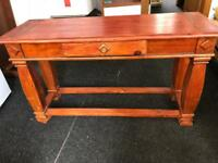 Solid wooden console table with drawer