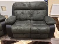 Brand new Fabric suede manual recliner £495