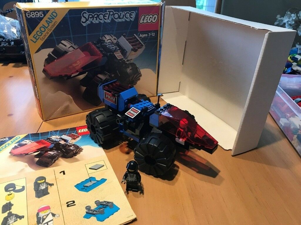 Lego Spy Trak Blacktron Space Police With Box And Instructions