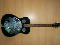 Regal black RD-30 resonator guitar - perfect condition, with hard case