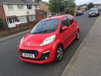 2014 PEUGEOT 107 ALLURE RED IMMACULATE CONDITION TAX FREE!! 60 MPG!! WARRANTY!