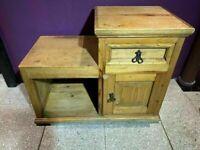 Rustic pine step locker