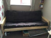 Kyoto Nashville 3-seat futon bed