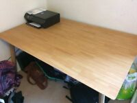 Large Oak Effect Dining Table