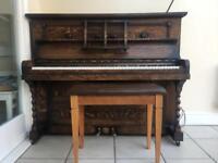 Upright piano W.H. Barnes