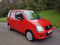 2006 vauxhall agila 1 litre low miles cheap insurance