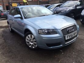2006 AUDI A3 2.0 TDI DIESEL AUTOMATIC SPORTBACK COMES WITH 12 MONTHS MOT AND RECENT FULL SERVICE