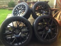 20 inch black Mercedes , Audi alloys 11month old new tires