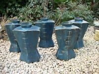 """Set of Five (15"""" tall),Pot Vases.. Ideal for Garden, Patio or Conservatory."""