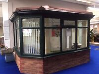 RB Windows- Green Conservatory With Guardian Roof Ex-display - NOW ONLY £9995