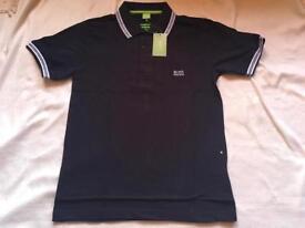 Hugo boss men's polo shirt short sleeves black colour Size M £15
