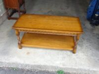 Old Charm Wooden Coffee Table & Side Unit