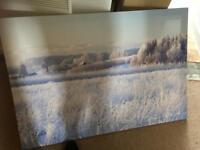 Huge snowy canvas
