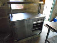Parry professional kitchen equipment forward pass hot cupboard with heat lamps