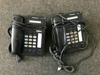 Box of x16 Panasonic landline telephones, untested