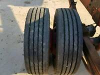 4 truck tyre suit 7.5 tonne lorry size 215/75/ 17.5 .as new