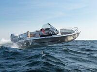 New Silver Hawk Aluminium Boat - Unsinkable with Honda or Suzuki 80hp Outboard For Sale
