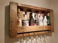 Bespoke drinks wall rack/bar *read description*