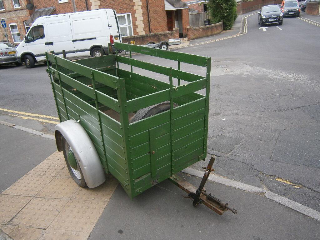 vintage car trailer livestock trailer austin 7 morris cowley era ...
