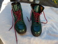 Dr Martens Size 5 Rare Emerald Green 8-hole Boots, very good condition